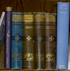 photo of Gretchen's grandmother's Alcott shelf