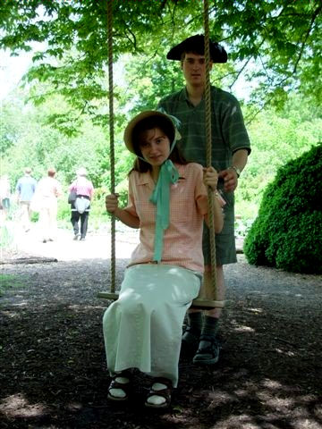 Chantel with her brother Craig in Colonial Williamsburg