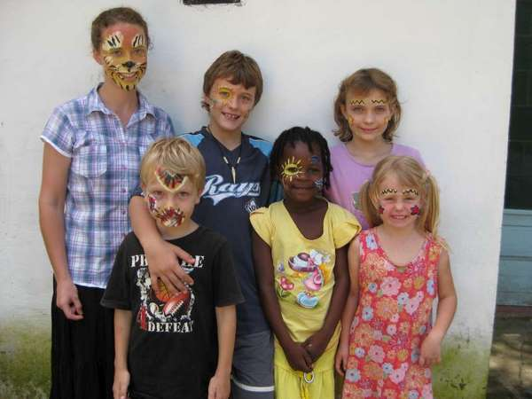 Africa themed face painting with my students