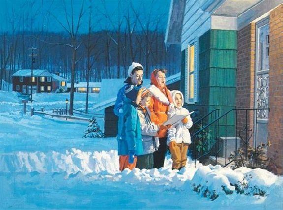 Painting by Gordon Johnson