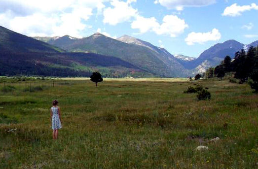 Janine P in a beautiful colorado mountain field