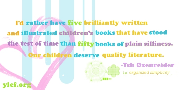 of children's books - from Organized Simplicity by Tsh Oxenreider - graphic by Chantel Brankshire