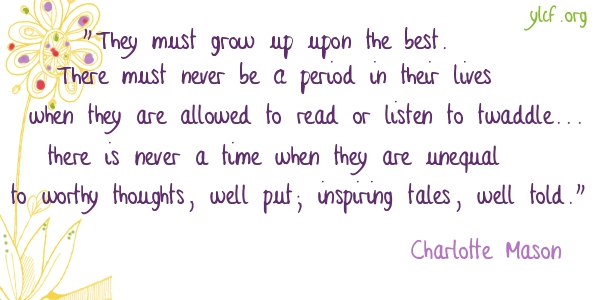 of twaddle - from Charlotte Mason - graphic by Chantel Brankshire