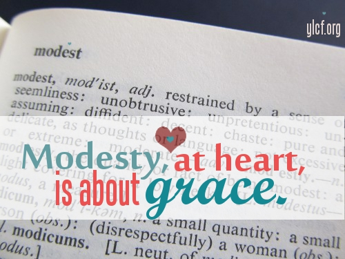 Modesty (photo by Elisabeth Allen, graphic by Chantel Brankshire)