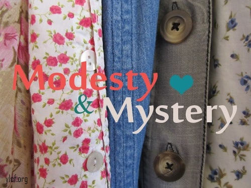 Modesty & Mystery (photo by Elisabeth Allen, graphic by Chantel Brankshire)
