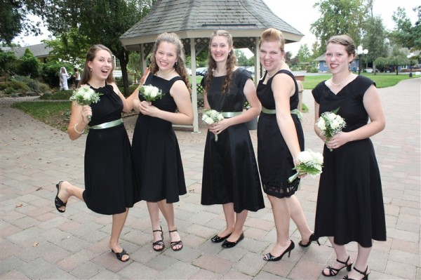 bridesmaids at Theresa's wedding