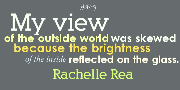 My view of the outside world was skewed... http://ylcf.org/?p=17932 @RachelleRea on @YLCF