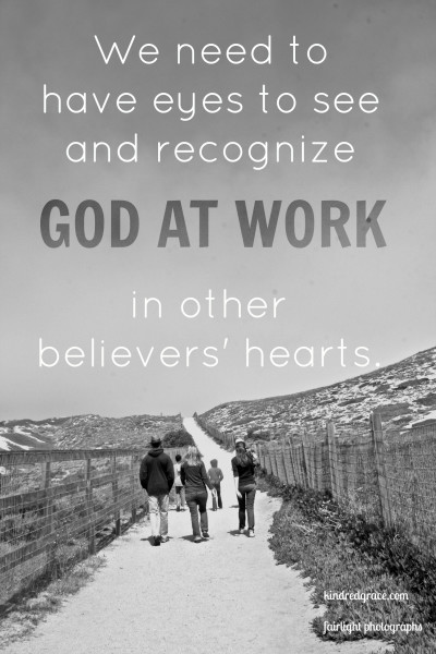 We need to have eyes to see and recognize God at work...