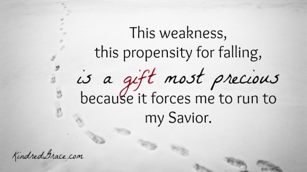 The weakness is a gift most precious...