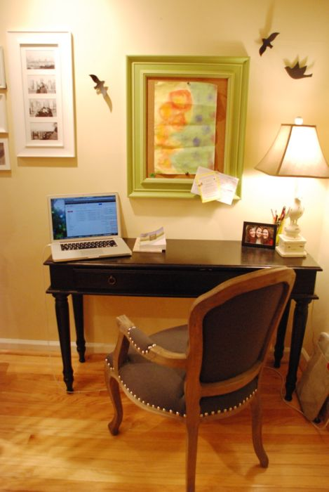 Emily's writing space #2 (sofa table turned writing desk)
