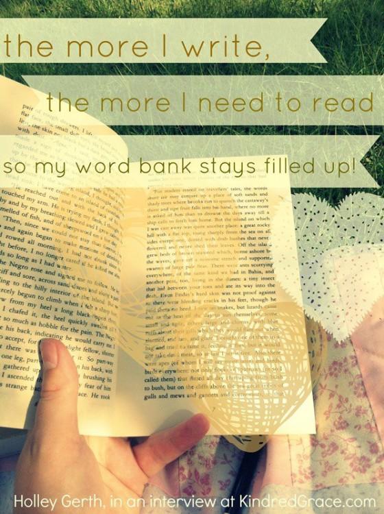 The more I write...