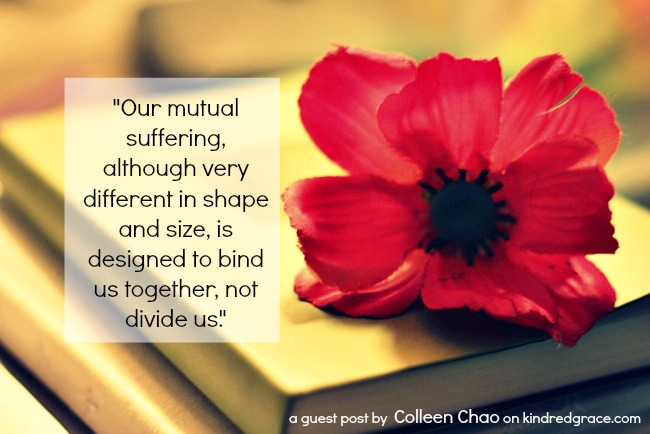 Our mutual suffering is designed to bind us together, not divide us via @KindredGrace