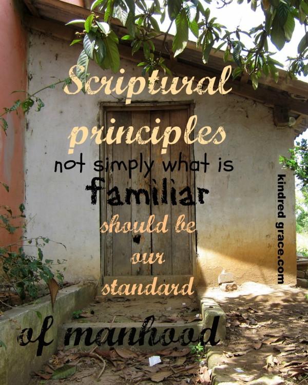 Scriptural principles...