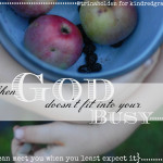 When God Doesn't Fit in Your Busy