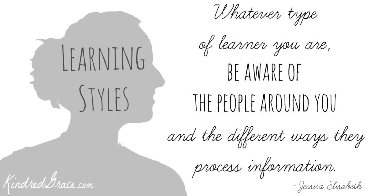be aware of the learning styles of others