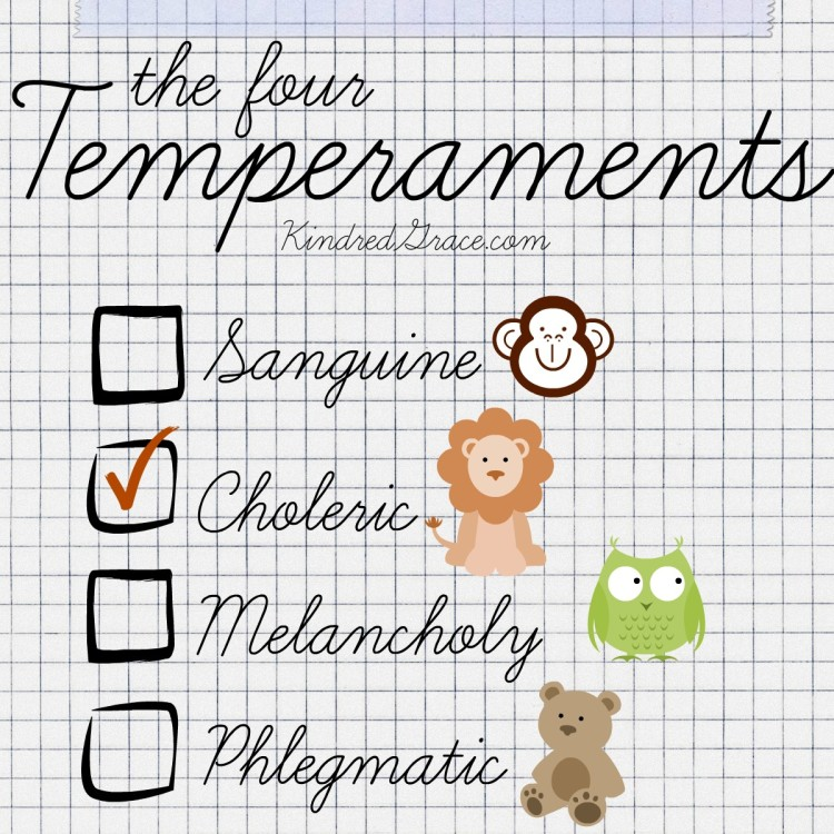 The Four Temperaments {an overview at @KindredGrace}