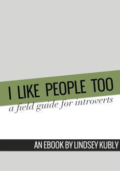 I Like People Too: a field guide for introverts