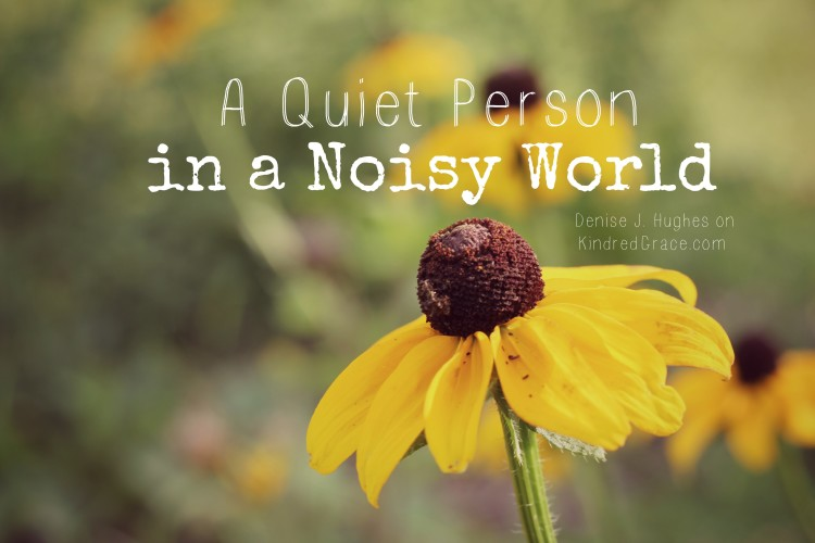A Quiet Person in a Noisy World @DeniseJHughes on @KindredGrace