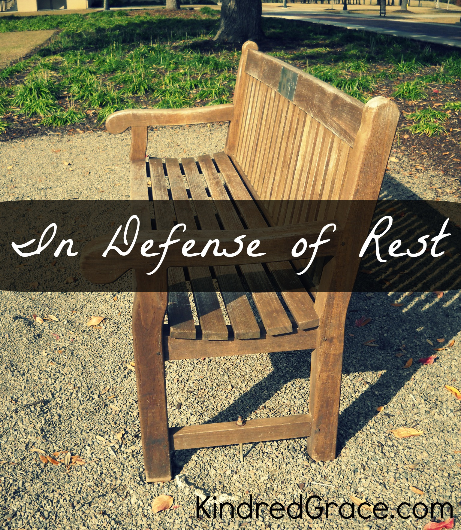 In Defense of Rest on @KindredGrace by @RachelleRea