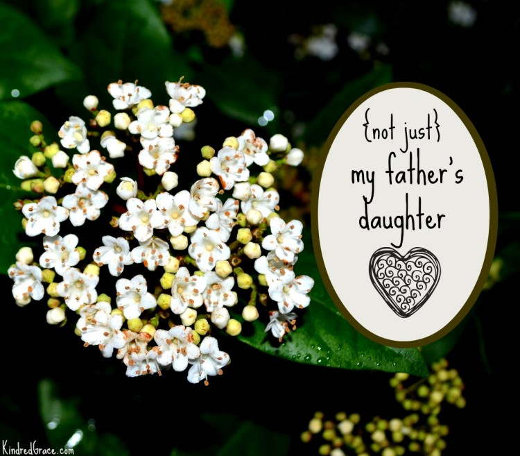{not just} my father's daughter on @KindredGrace