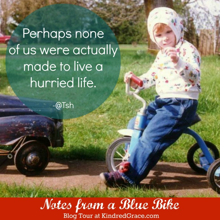 Perhaps none of us were actually made to live a hurried life. #NotesFromABlueBike