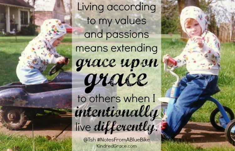 Extending grace upon grace... #NotesFromABlueBike @KindredGrace