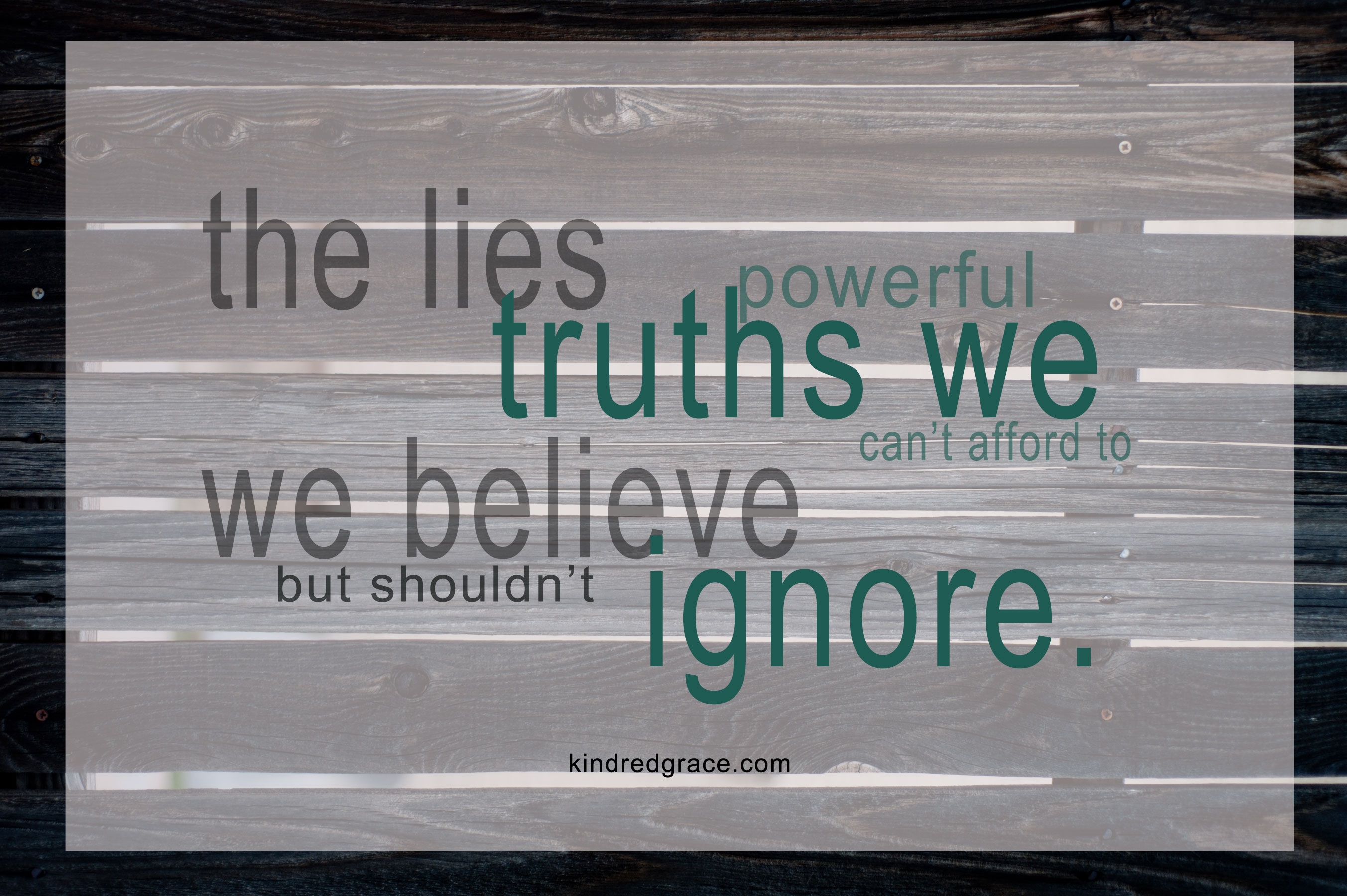 True or False?  Fighting the Lies