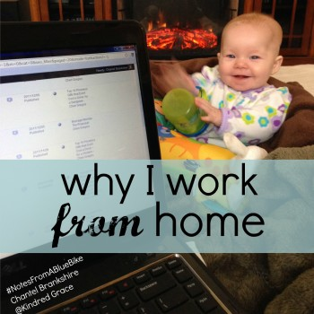 why I work from home @cbrankshire #NotesFromABlueBike