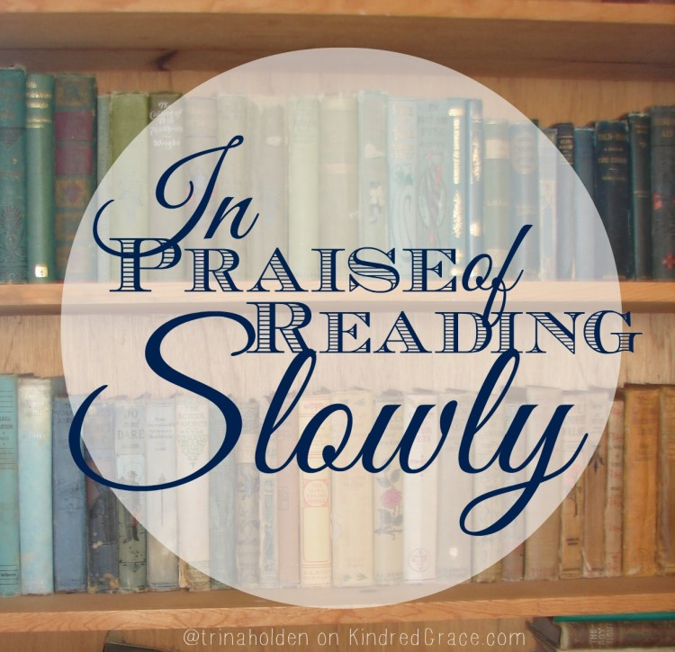 why reading slowly might be a good thing now and then... #MarchOfBooks