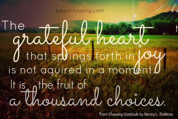 the grateful heart that springs forth in joy... #1000gifts