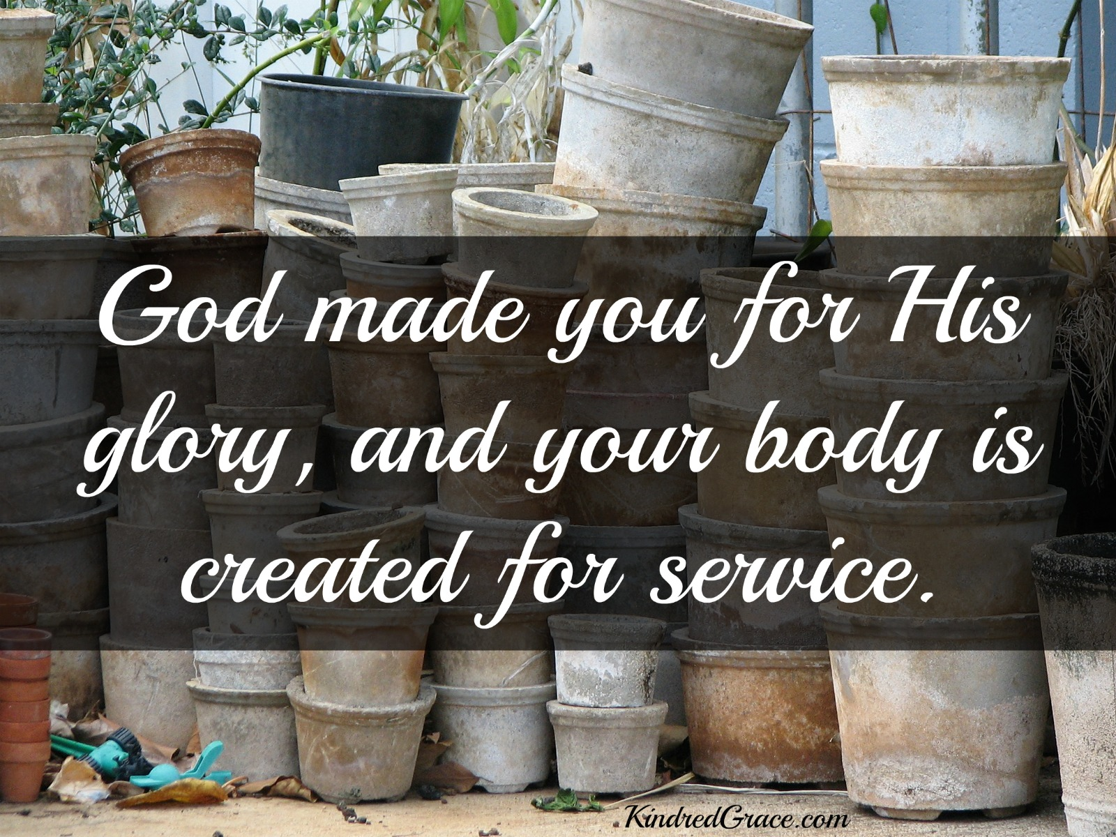 God made you for His glory, and your body is created for service.