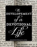 an inspiring account of how one's devotions can change and develop through life seasons