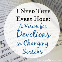 A Vision for Devotions in Changing Seasons