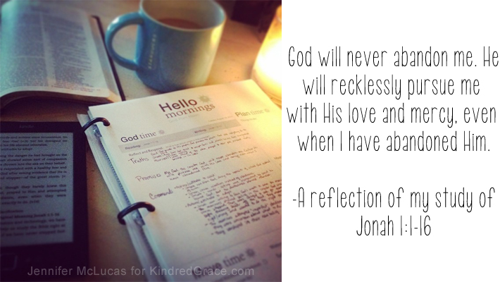 God will never abandon me.