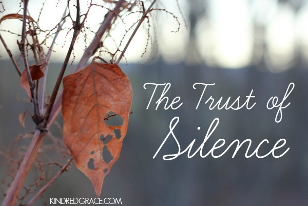 The Trust of Silence