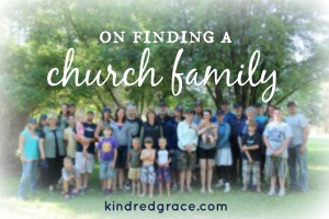 on finding a church family