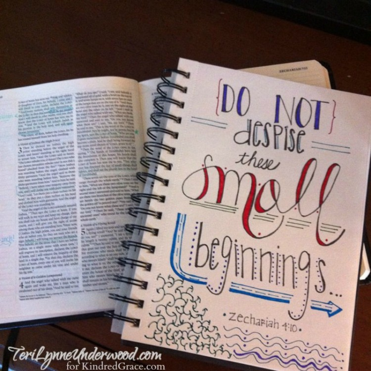 Do not despise small beginnings ...