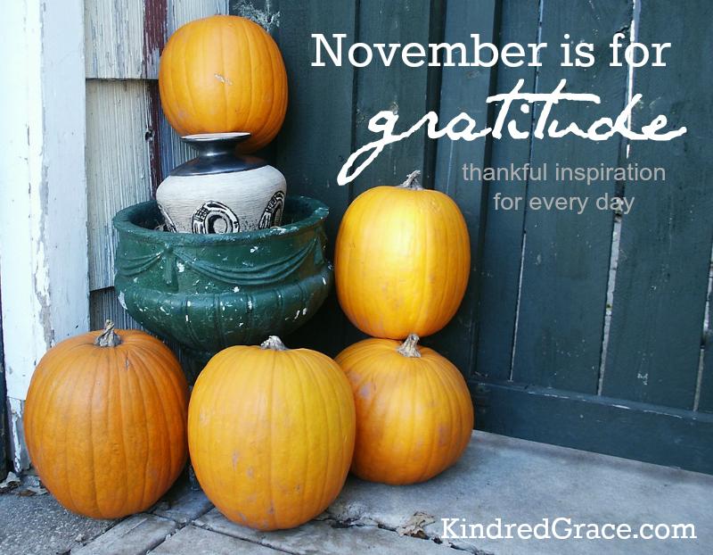November is for Gratitude