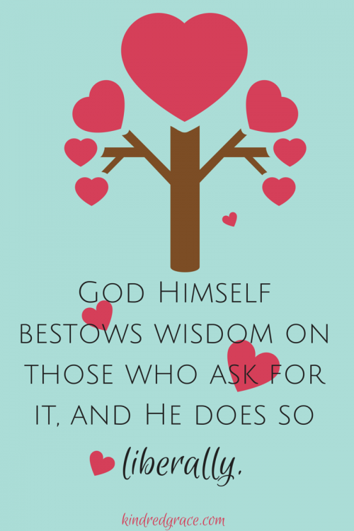 God bestows his wisdom liberally!