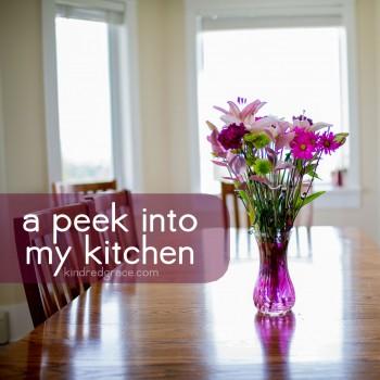 A Peek Into My Kitchen