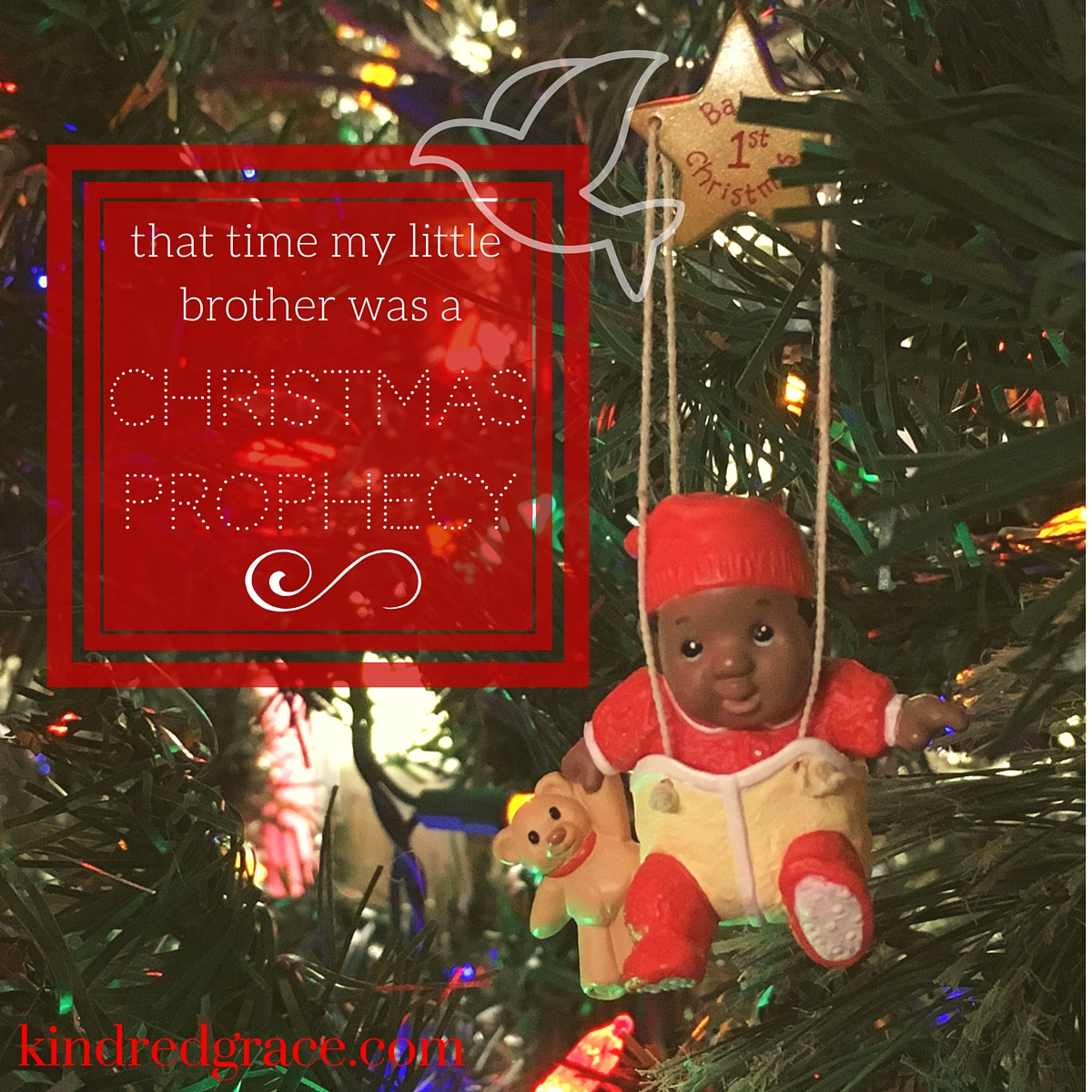 the time my brother was a christmas prophecy, a post by everly pleasant at kindredgrace.com