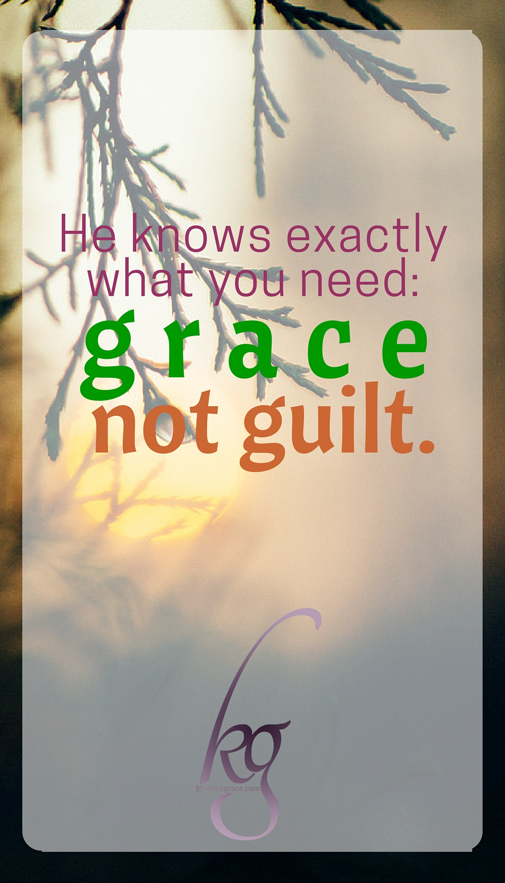 Grace far outweighs our sin. Cling to grace. via @KindredGrace