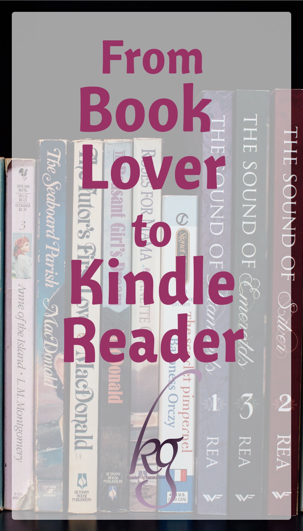 from book lover to Kindle reader via @KindredGrace