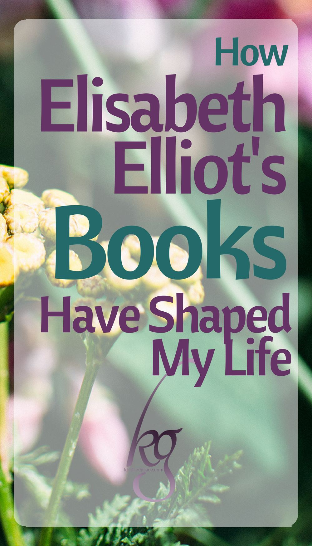 Elliot never avoided the harsh word or sugarcoated the truth. She took the Bible and laid it out the way she saw it and, as you waited for an apology, she gave you a blessing. Her books were so different than the patronizing church curriculum I had been exposed to. It was convicting, but it made so much sense to me, and that was worth the pain of conviction. Sense in a senseless world, wisdom for fools, truth in a time of false teachers: I discovered these things in her writing and uncovered them as one would gold nuggets from a rain gutter. via @KindredGrace