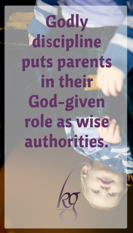 rather than setting parents and children up for power struggles, godly discipline puts parents in their God-given role as wise authorities.