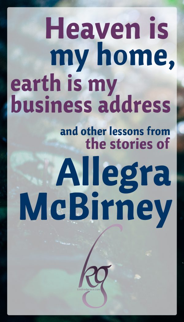 Lessons from the Stories of Allegra McBirney