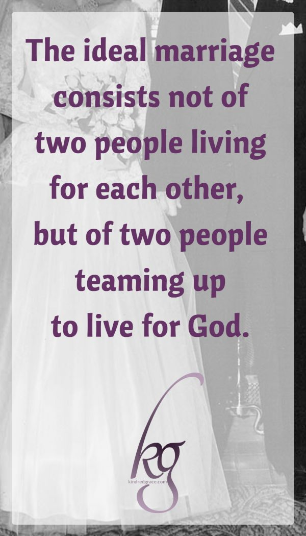 Prioritizing your relationship with Christ is the ultimate safeguard against your love for your husband beginning to erode. Only He is the fully dependable One. The ideal marriage, therefore, consists not of two people living for each other, but of two people teaming up to live for God.