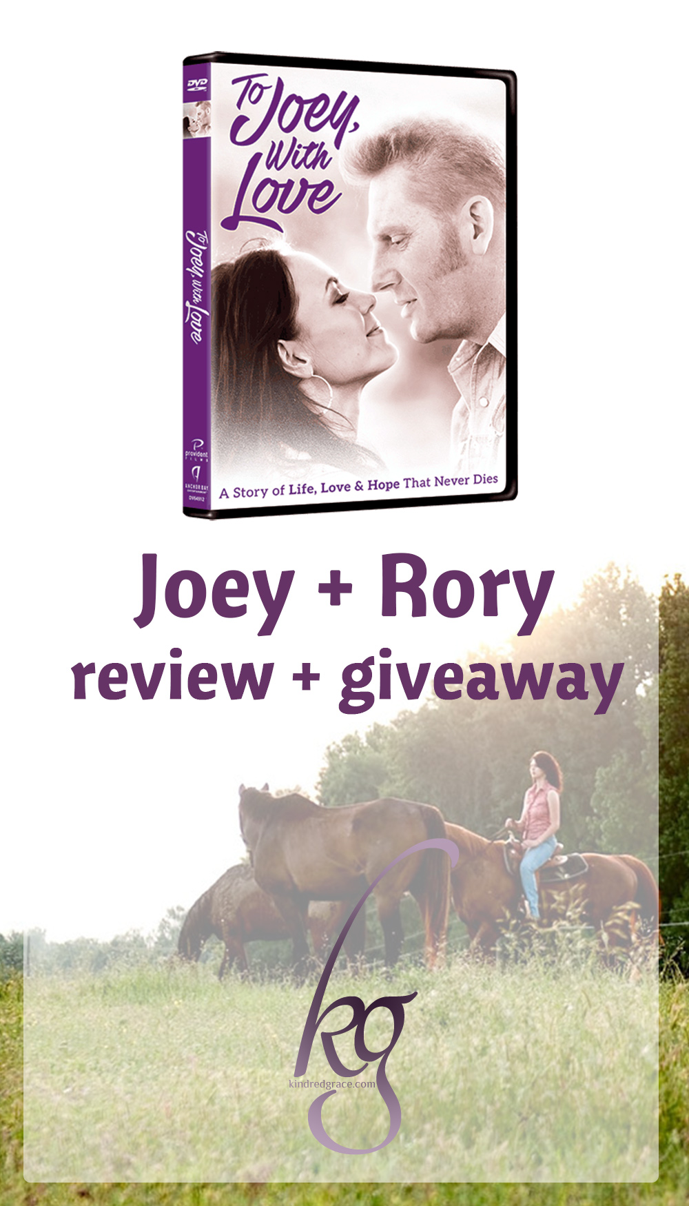 "It's not every day that I watch a movie already knowing how it will end. That's why Rory's words at the beginning of the film ""To Joey, With Love"" captured my attention: We believed God would give us a great story... And He did. (Enter to win your own copy of the DVD!)"
