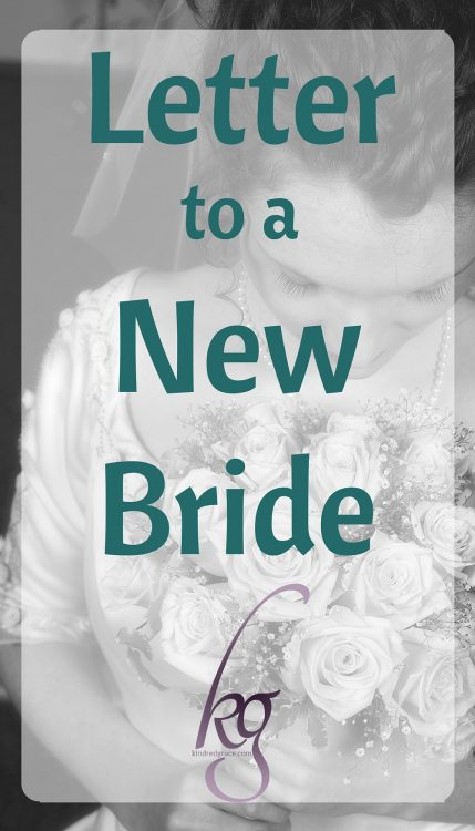 Letter to a new bride...
