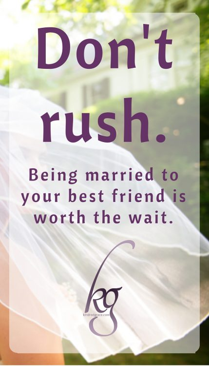 Being married to your best friend is worth the wait.